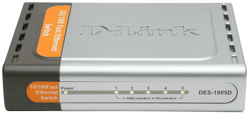 D-Link DES-1005D Вид спереди
