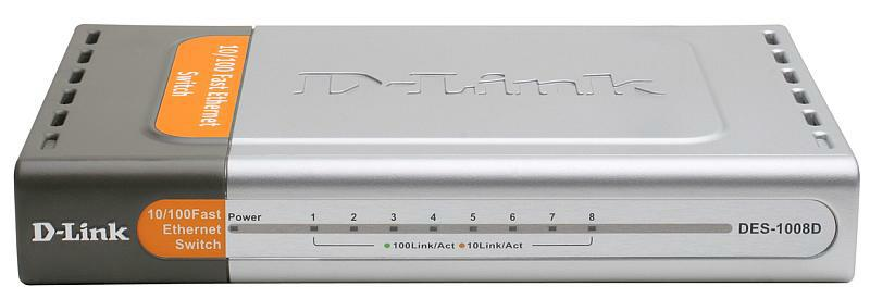 D-Link DES-1008D Вид спереди