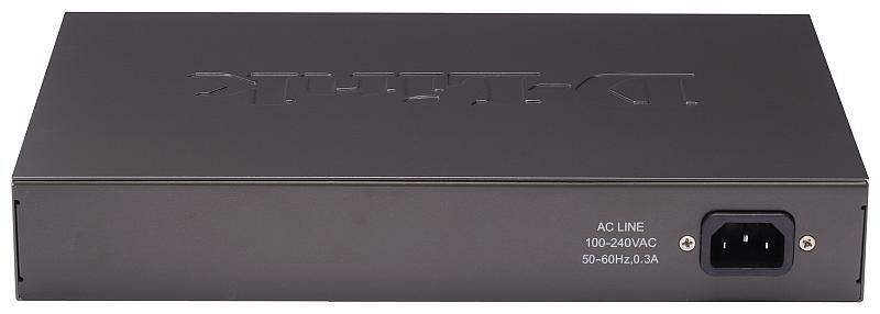 D-Link DES-1016D Вид сзади