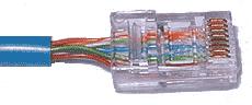 Неправильный обжим кабеля